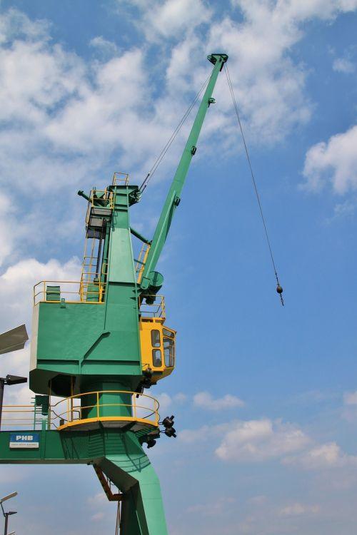 crane load crane site