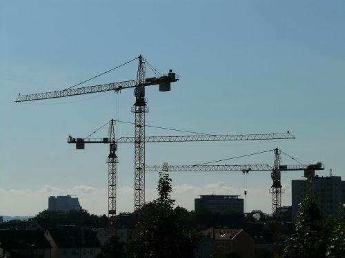 crane baukran construction work
