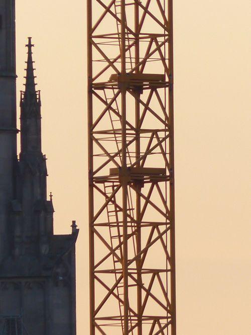 crane baukran scaffold