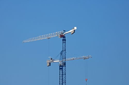 Crane With Arm Extended