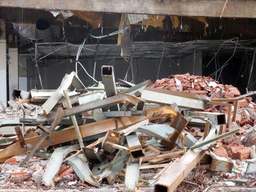 crash demolition construction work