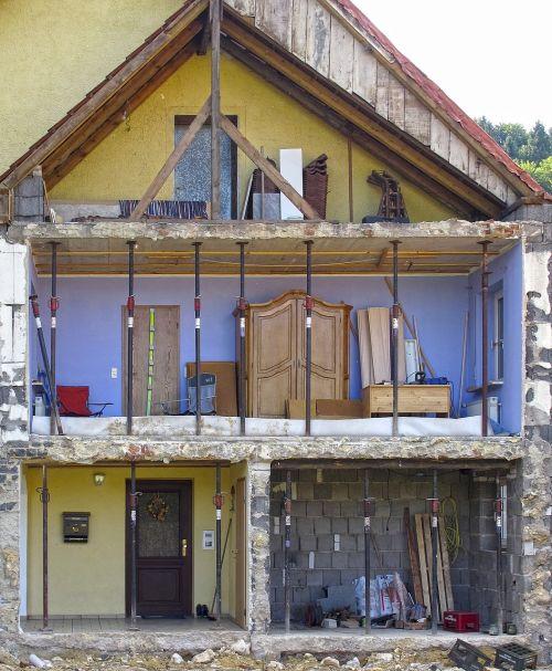 crash demolition half of the house