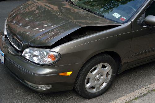 crashed car damage dent