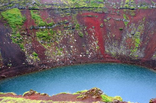 crater lake iceland volcanic crater