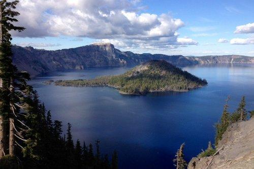 crater lake  lake  island