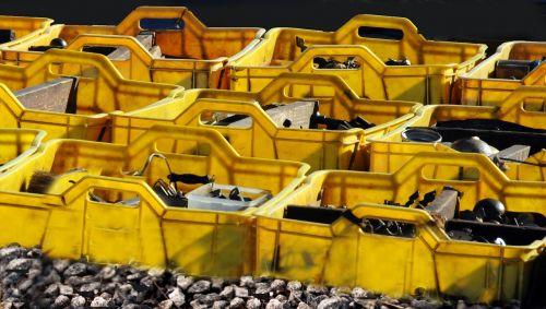 crates flea market rummage