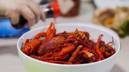 crayfish gourmet close-up