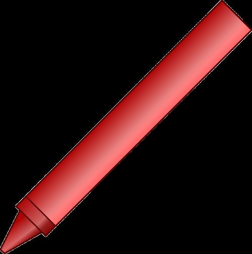 crayon red pen