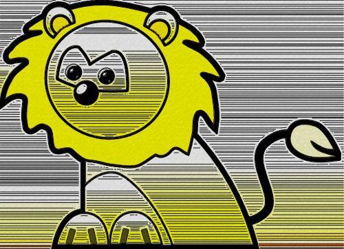 Crayon Lion