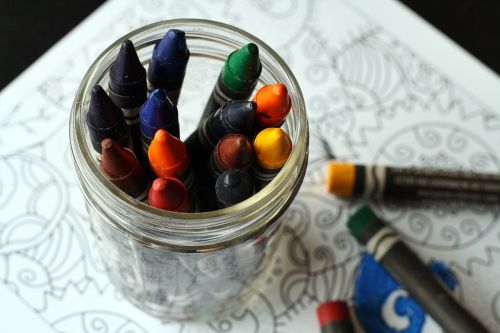 crayons coloring book coloring
