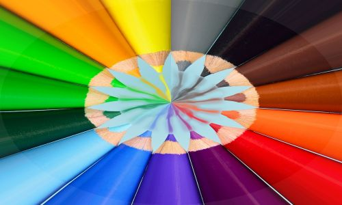 crayons abstract color