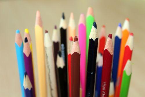 crayons colorful motor skills