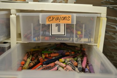 crayons drawer children