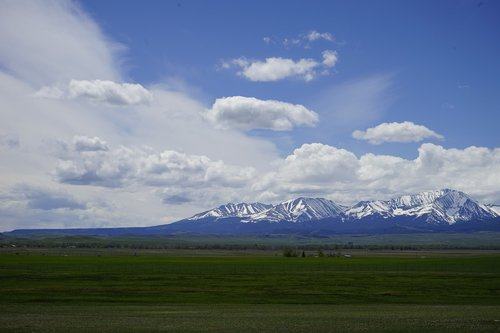 crazy mountains montana  mountains  prairie