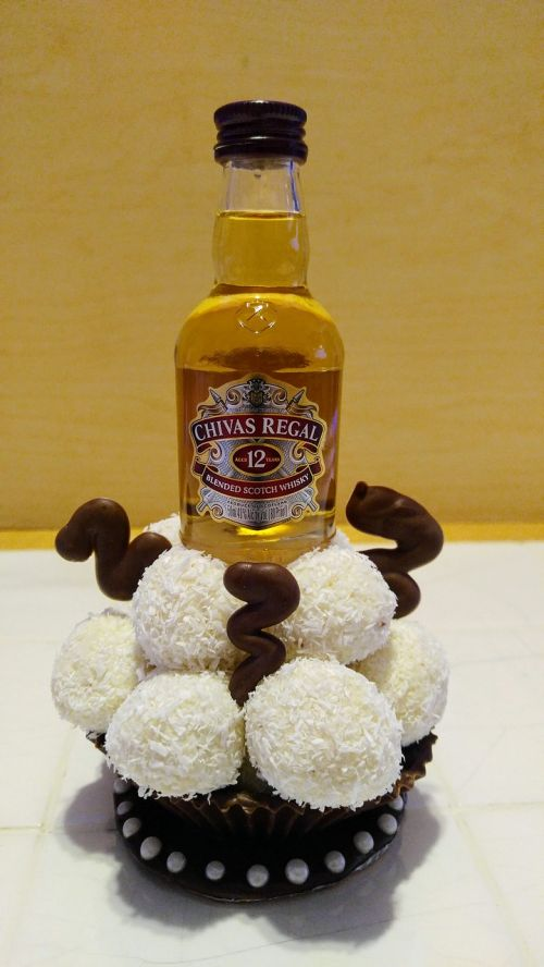 creativity booze coconut balls