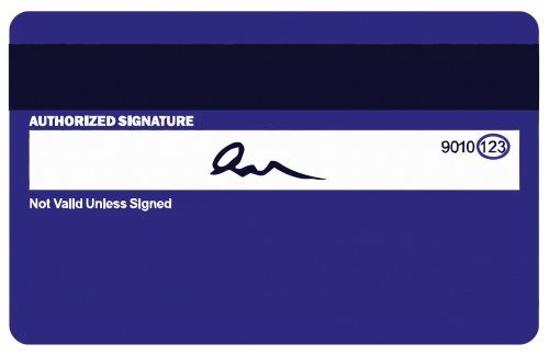 credit card signature credit