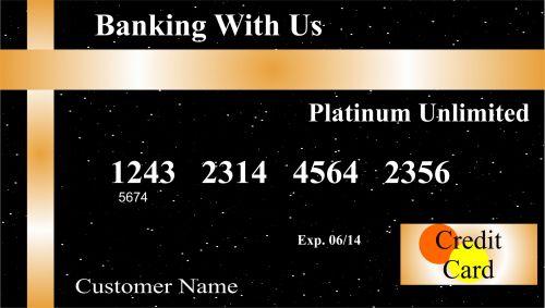 kredito & nbsp, kortelė, verslas, erdvė, pinigai, iliustracija, išlaidos, žvaigždės, juoda, auksas, kredito kortelės iliustracija