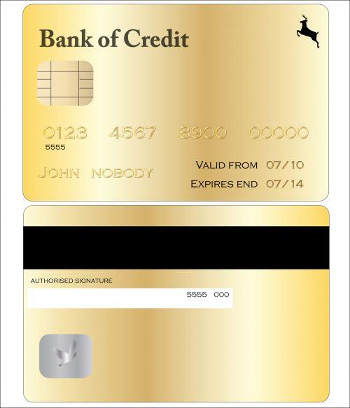 kredito & nbsp, kortelė, auksas, iliustracija, menas, realus, kortelė, balta, fonas, kreditas, kredito kortelė