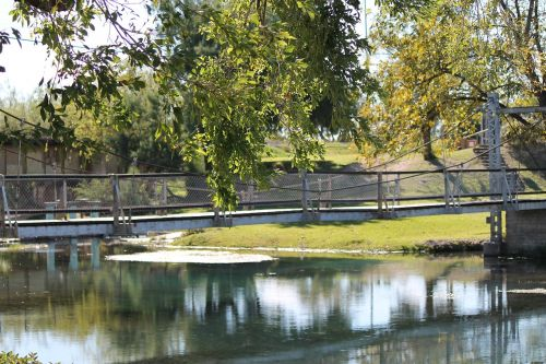 creek bridge water