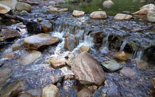 creek cascade clear water