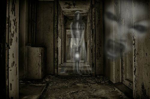 creepy ghosts abandoned building