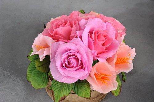crepe paper  crepe  flowers