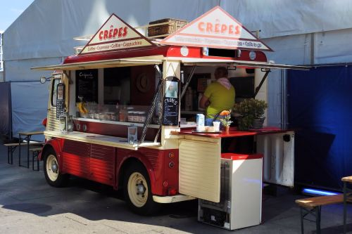 crepes crepes-selling cars mobile shop