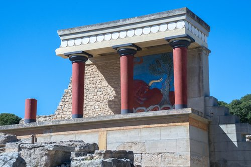 crete  knossos  greece
