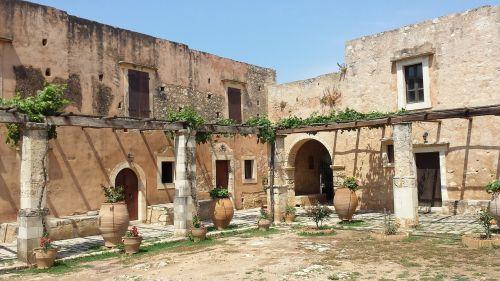 crete monastery arcade