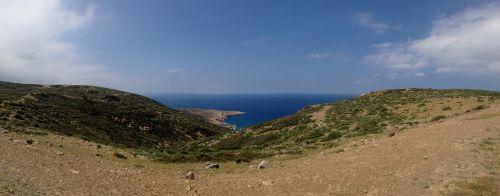 crete mountains sea