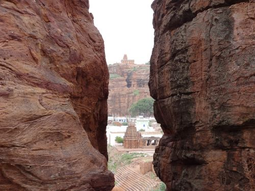 crevasse rocks hills
