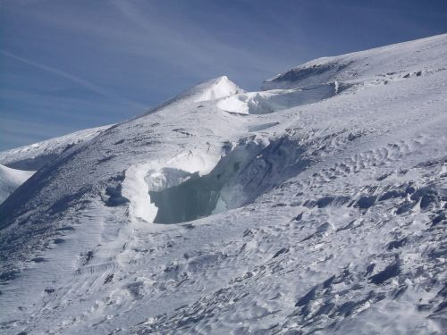 crevasse mont blanc snow