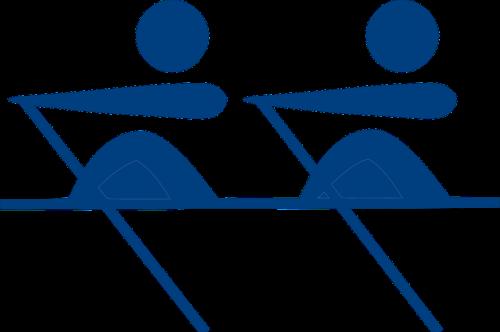 crew rowing stickmen