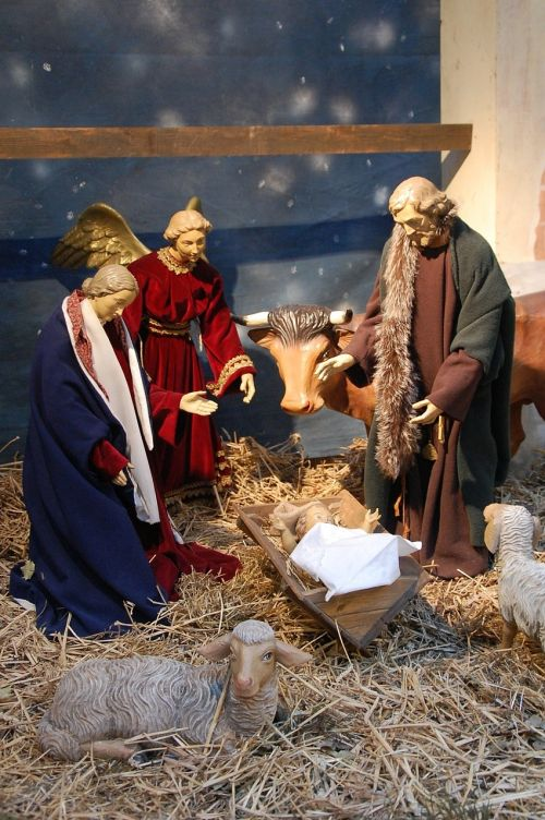 crib christmas nativity scene