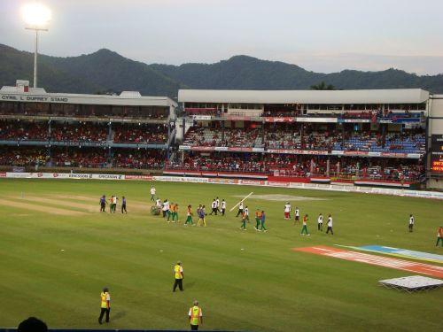 cricket field stadium