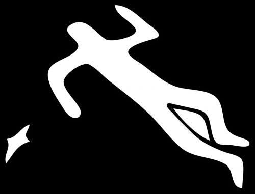 crime scene silhouette body