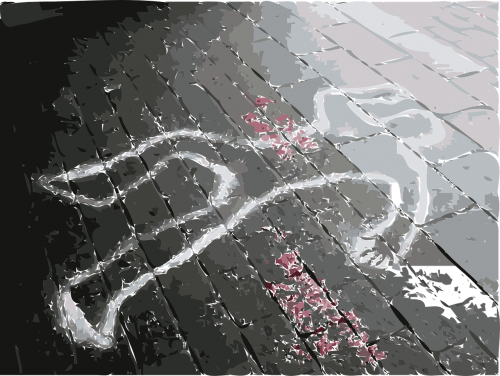 crime scene dead marks