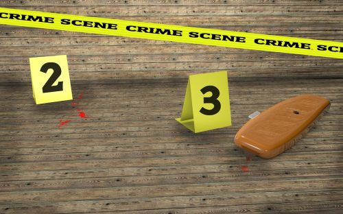 crime scene crime knife