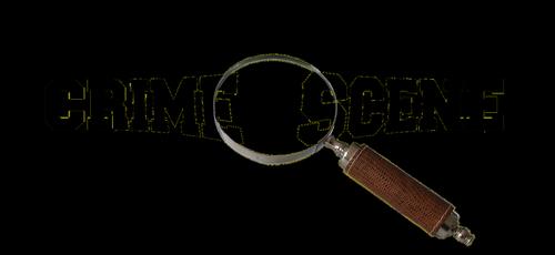 crime scene  magnifying glass  lens