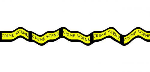 crime scene tape scene