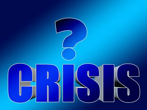 crisis question mark deterioration