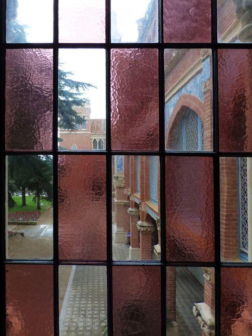 cristalera stained glass window catalan modernism