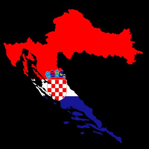 croatia map land