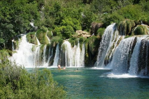 croatia waterfall land