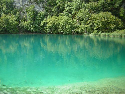 croatia lake nature