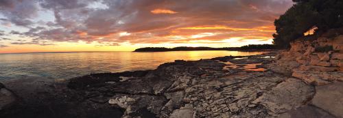 croatia sunset sea