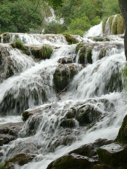 croatia dalmatia waterfalls nature