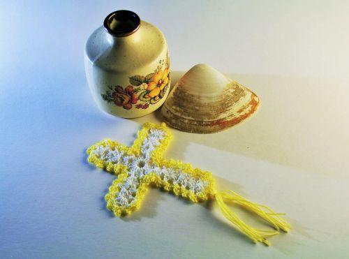Crochet Cross And Ornaments
