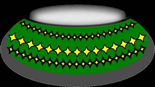 crockery green bowl