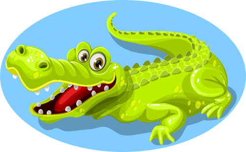 crocodile green animal
